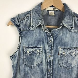 Levis Acid Wash Sleeveless Top Size Small